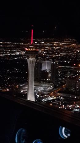 Photo of Las Vegas Las Vegas Strip Night Flight by Helicopter with Transport Stratosphere Tower