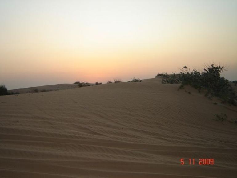 Sunset at the desert - Dubai