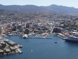 Photo of   The beautiful city of Hobart from our seaplane tour