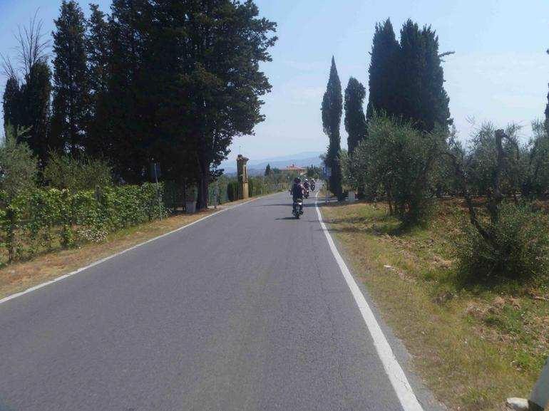 Vespa tour on the road - Florence