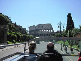 Photo of   View of the Colosseum from the bus