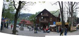 The pedestrianised main street in Zakopane - May 2010