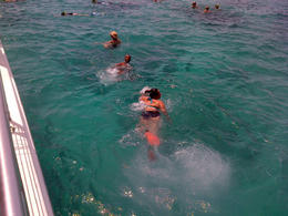 My sister and I swimming , Alfredo M - July 2014