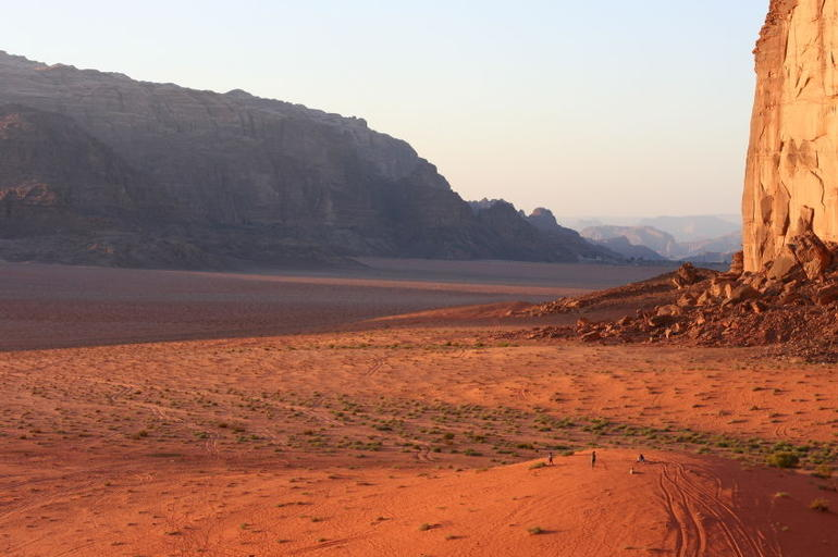 Briliantly red Wadi Rum, Jordan - Amman
