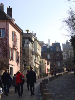 A very pretty street in Montmartre, Emily - March 2013