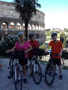 Photo of Rome Rome City Bike Tour first stop the Colosseum