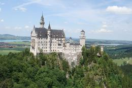 Neuschwanstein Castle from the bridge nearby., Marion C - July 2010