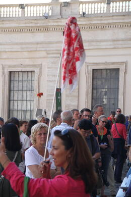 Photo of Rome Skip the Line: Vatican Museums, Sistine Chapel and St Peter's Basilica Half-Day Walking Tour Ourwhite/red cloth