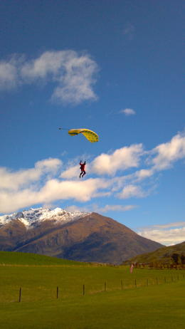 Skydiving in Queenstown - September 2012