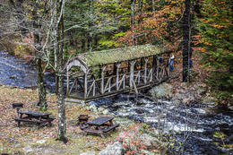 This covered bridge over a creek was from the late 1700s....... , mail - November 2014