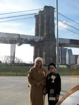Here we are on the Brooklyn water front. , Janet O - December 2011