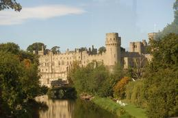 Our first view of Warick Castle from the bus., Janet S - October 2009