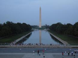 Although the tour has to start during daylight since it takes a few hours they time it so that you are at the Lincoln Memorial looking back towards Washington Monument at dusk., Christine C - May 2008