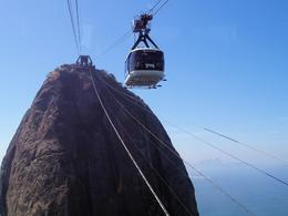 Cable car to Sugarloaf Mountain , Abigail - August 2013