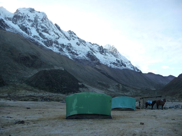 Camp for the night - the most beautiful scenery! - Cusco