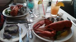 This lobster sacrificed it's life for us!! Fabulous dinner, Gpo - December 2014