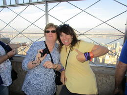 Heidi and Chris at the Empire State Building having a great time , chrissy - October 2014