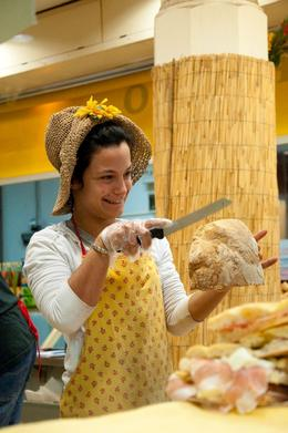 Photo of Florence Small-Group Italian Cooking Class in Florence Fresh bread from the baker