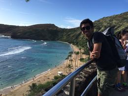selfie with a beautiful hanauma bay. I just fall in love with Hawaii , AMMARIT B - December 2014