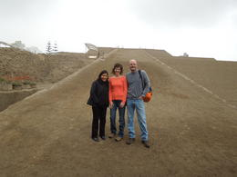 Here we are in Lima at the Huaca Huallamarca with our guide, Marybel. , kborrego - July 2013