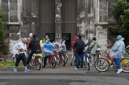 Photo of Paris Giverny and Monet's Garden Bike Tour Our group at the old Church in Vernon