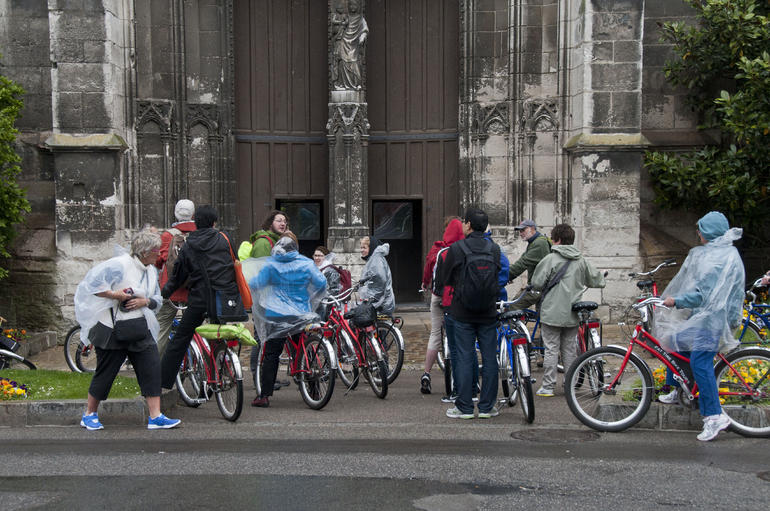 Our group at the old Church in Vernon - Paris