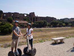 Mike and Natalie on the Rome Segway Tour, Michael S - July 2009