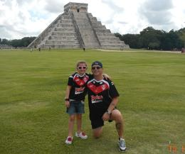 Photo of   Qianna n MARK at pyramid at chichen itza