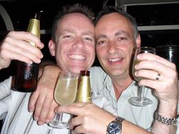 Two of our group having a very happy new year celebration!, Garry M - February 2009