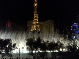 Photo of Las Vegas Las Vegas Lights Night Tour Dancing Lights of Bellagio's with the Paris Tower in the background