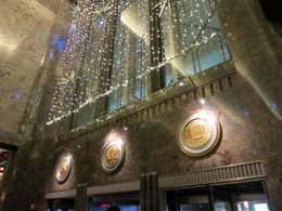 Entrance Door at ESB, decorated for Christmas, Patricia P - July 2015