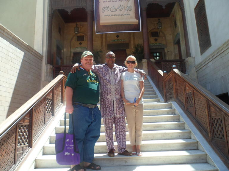 Eric and friends at the Hanging church - Cairo