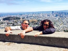 Joe and I at Twin Peaks overlooking the city , Karla H - July 2015
