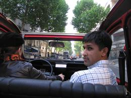 Inside the Citroen, next to our driver/guide., Mohamed R - June 2008
