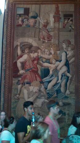Photo of Rome Skip the Line: Vatican Museums Walking Tour including Sistine Chapel, Raphael's Rooms and St Peter's Killing the male babies - yeesh!