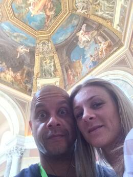 Carla and Matt inside the Vatican museum , Matt H - October 2014