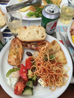 Our delicious lunch on the boat , Alex - September 2015