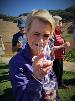 Rallie in Napa - enjoying every sip , Tony V - September 2015
