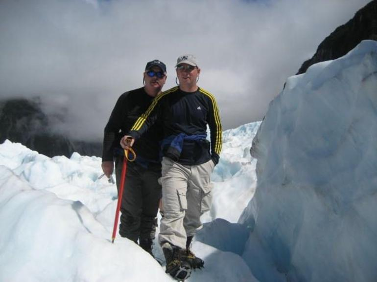 Rob and Steve on Franz Joseph - Franz Josef & Fox Glacier