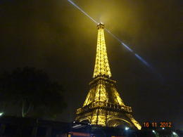 Photo of Paris Paris by Night Illuminations Tour and Paris Moulin Rouge Show The Eiffel Tower in the fog