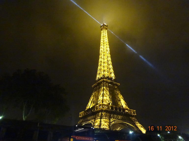 The Eiffel Tower in the fog - Paris