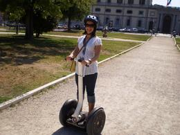 Natalie on her Segway, Michael S - July 2009