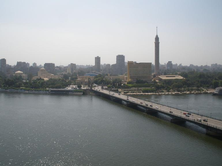 View of Cairo from Our Hotel Room - Cairo