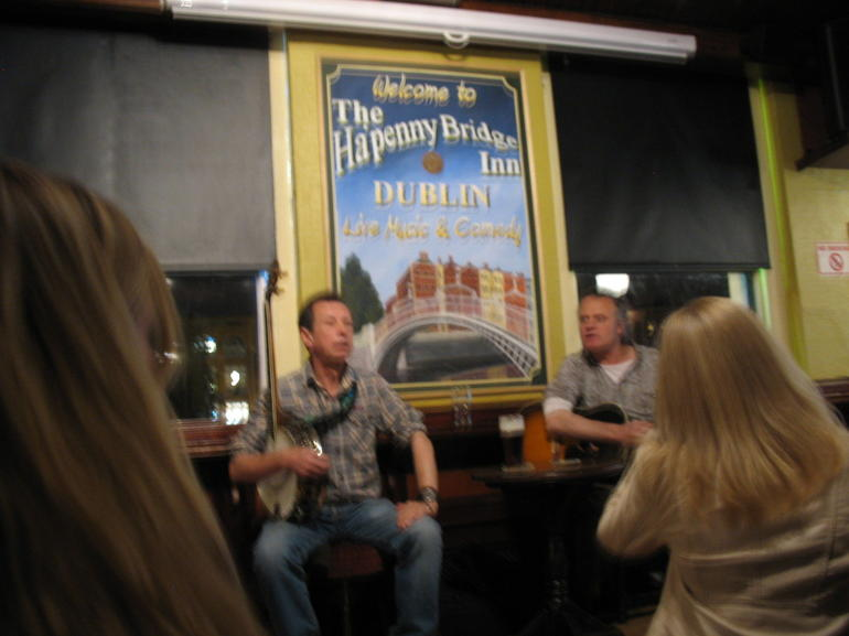 A fuzzy photo of 2 really good Irish musicians - Dublin