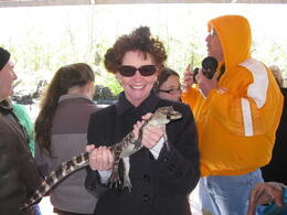 Lynn from Escondido, CA holding a baby gator.... , George G - April 2013