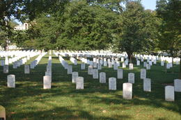 Rows and rows and rows of headstones - so many lives given for our freedom. , Ken K - October 2012