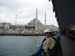 The view from underneath the Galata Bridge -- one of the many beautiful mosques that surround Istanbul. , Rick and Ildy Vinas - May 2011