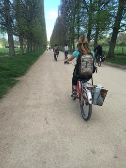 Photo of Paris Versailles by Bike Day Tour Biking along the Canal