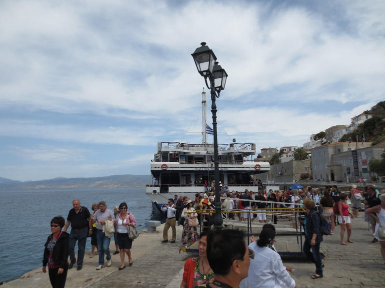 Ferry boat to the Saronic islands in Greece - Athens