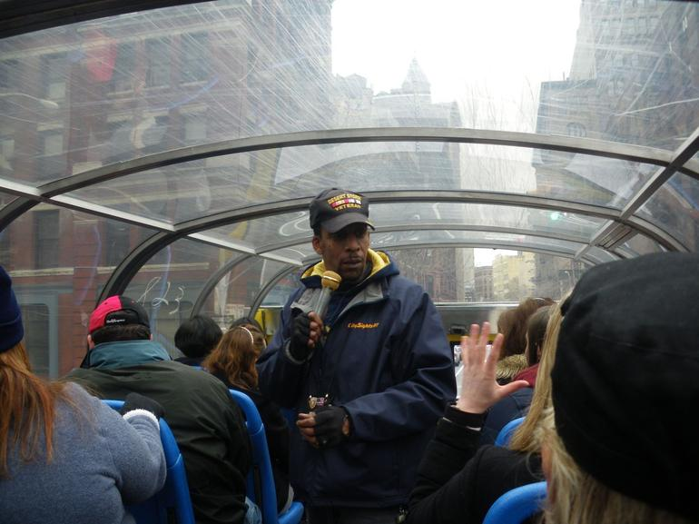 On the bus - New York City